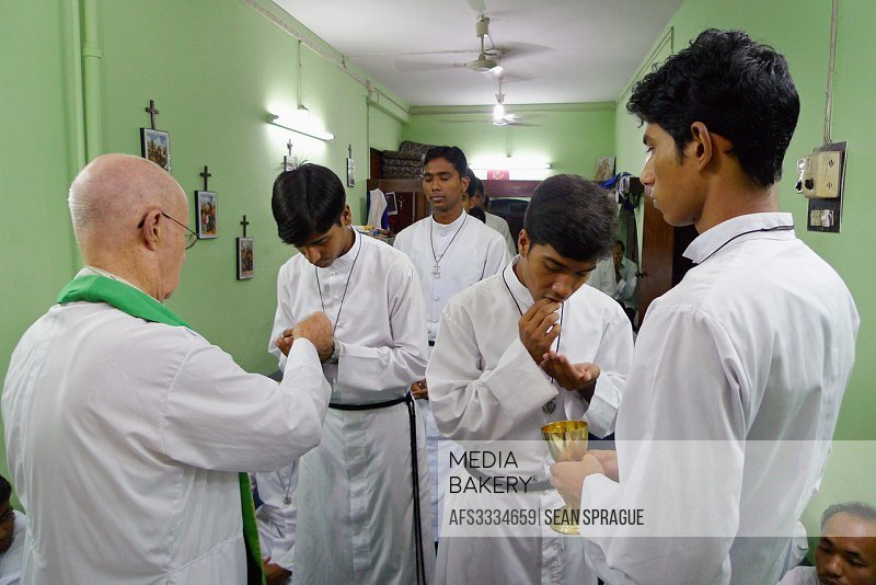 BANGLADESH. Celebrating mass at the Holy Cross Brothers House in Dhaka