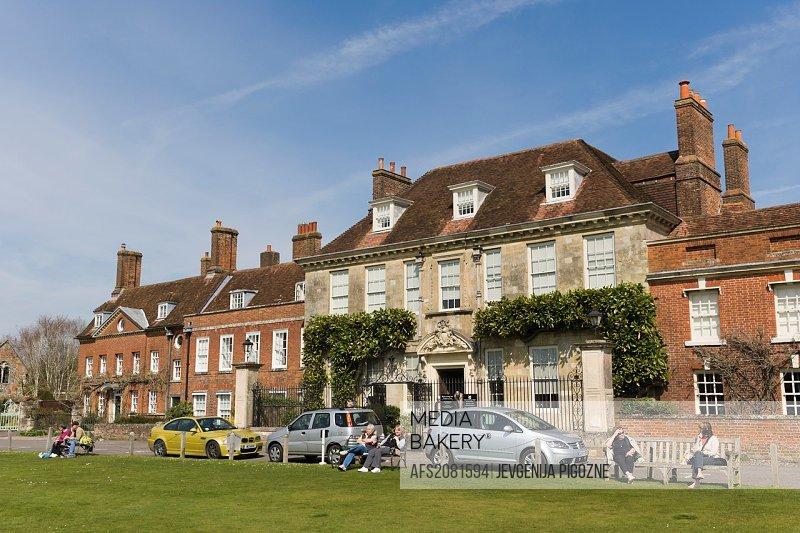 Mompesson House, Choristers Green, Salisbury Cathedral Close, Salisbury, Wiltshire, England, UK.
