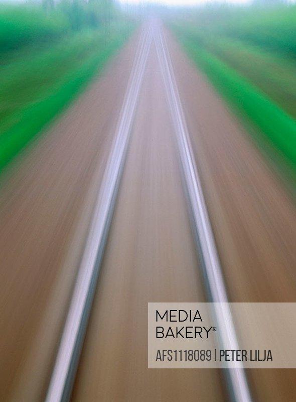 Blurred railway