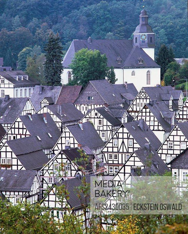 Freudenberg, Germany, Europe, North Rhine_Westphalia, Siegerland, old Flecken, Old Town, historical center, framework,