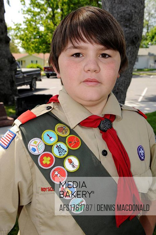 Boy scout in uniform