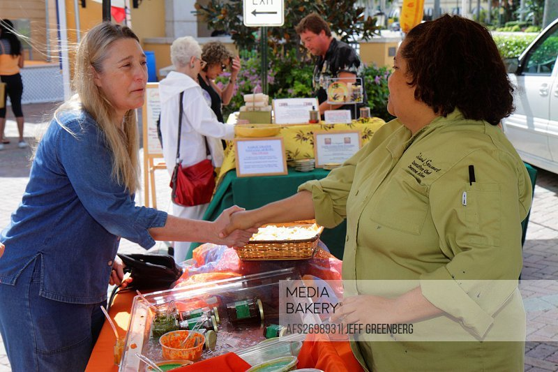 Florida, Boca Raton, Royal Palm Place, shopping, center, centre, Saturday GreenMarket, farmers market, for sale, Black, woman, chef, entrepreneur, con...