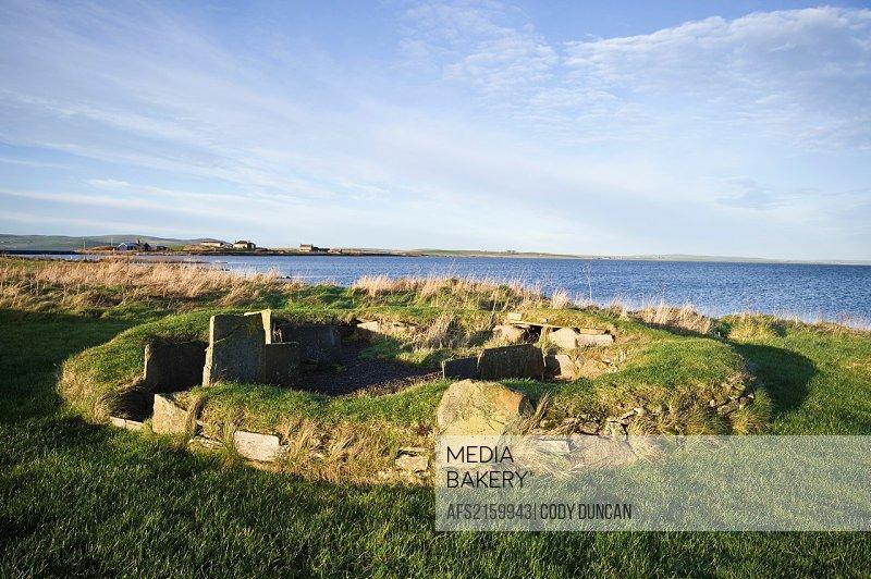 The Barnhouse Settlement Neolithic village, Loch of Harray, Orkney, Scotland