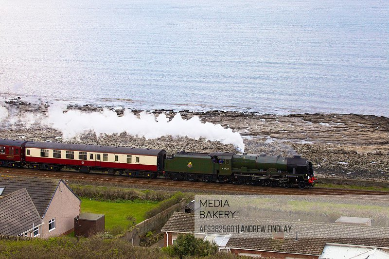 Mediabakery - Photo by Age Fotostock - Steam train LMS Royal