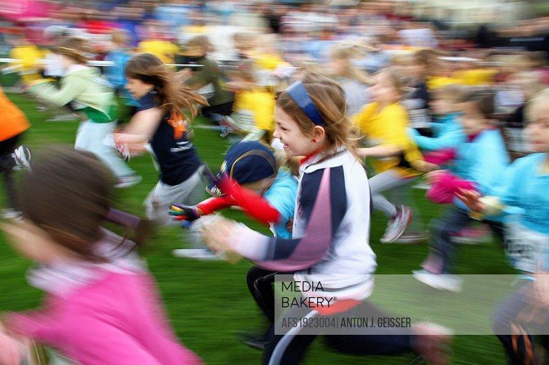 Blurred Runner field