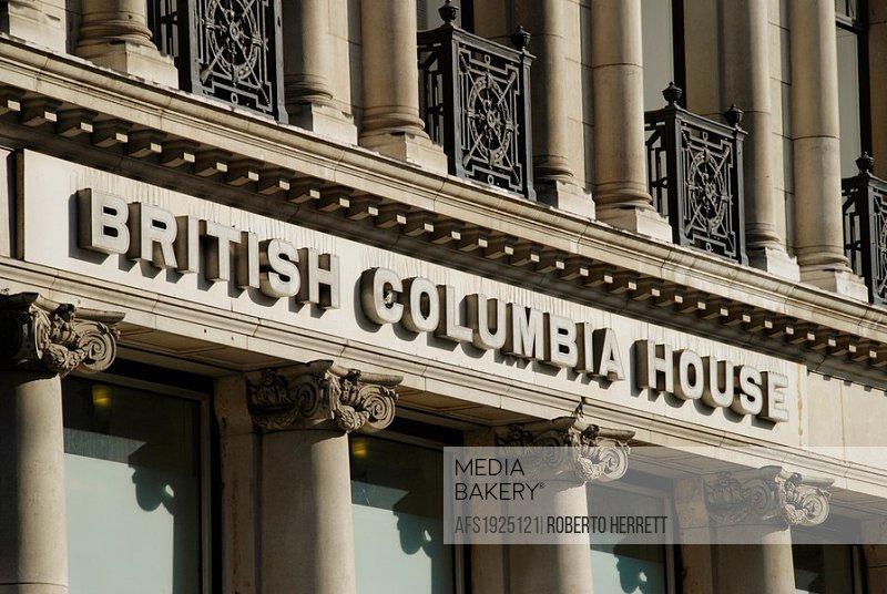 British Columbia House in Lower Regent Street, London, England