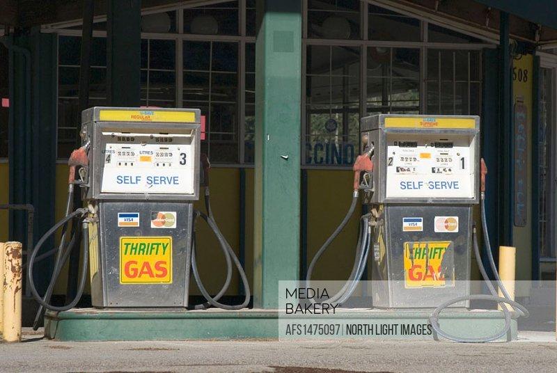 Abandoned gas station, Hope, BC, Canada