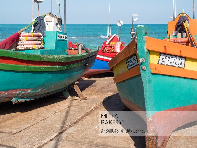 South Africa Arniston Seaport Fishing Boats.