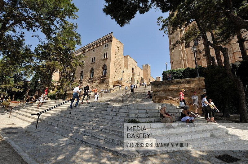 Access stairs to the Cathedral of Palma de Mallorca