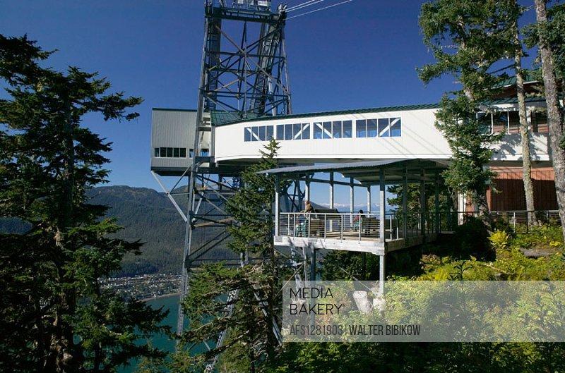 Tram Station. Mt. Roberts. Daytime. Juneau. Southeast Alaska. USA.