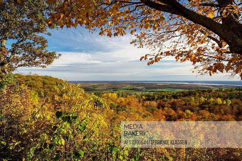 Fall foliage color at the Huron Lookout, Gatineau Park, Quebec, Canada.
