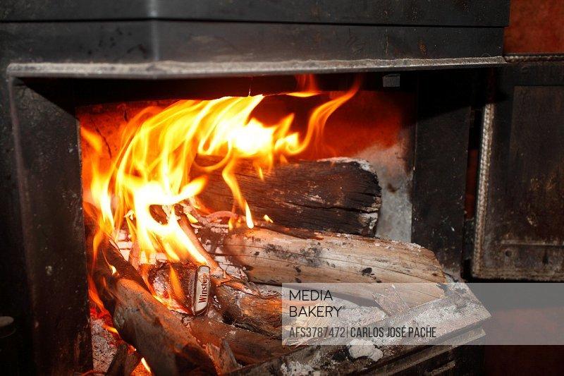 Fireplace, Extremadura, Spain