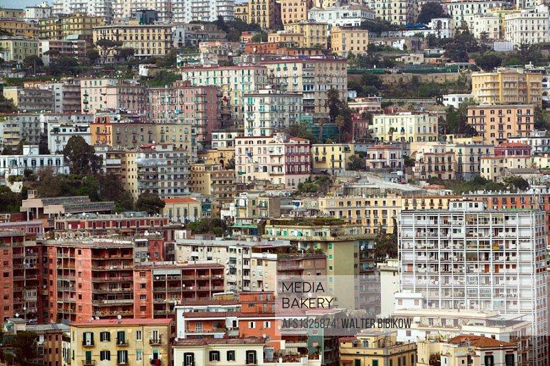 Highrises of Vomero. Daytime. Naples. Campania. Italy.