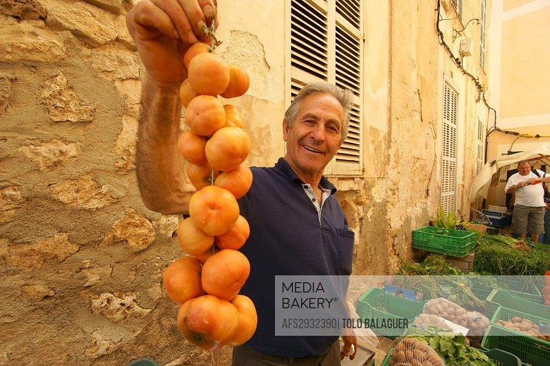 tomatoes, Market, Sa Fira de Sineu, Sineu Es Pla Mallorca, Balearics Spain