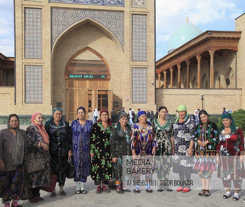 Uzbekistan; Tashkent, Hazrati Imam, Friday Mosque, people, women,.
