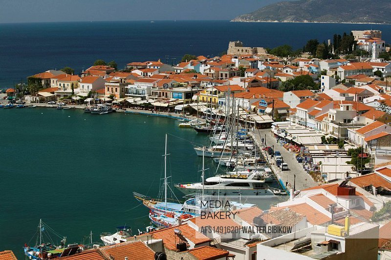 Harbor View. Daytime. Pythagorio. Samos. Northeastern Aegean Islands. Greece.