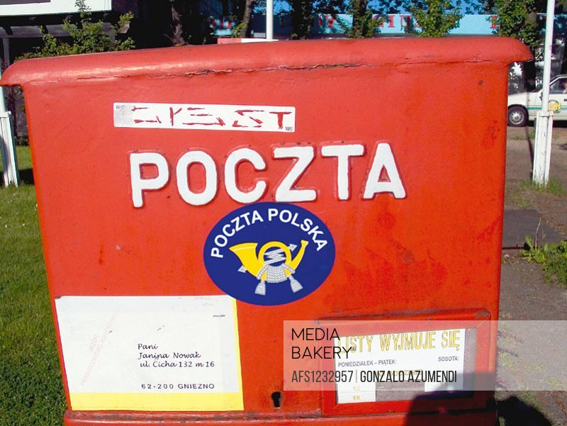 Letter box. Poland