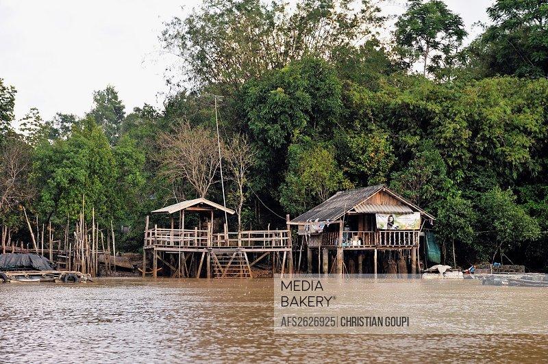 House in the mangrove, Krabi, Thailand, Asia
