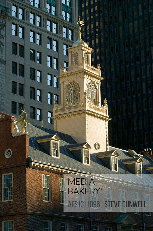 Old State House, (1713),  State Street, Boston. Massachusetts. USA.