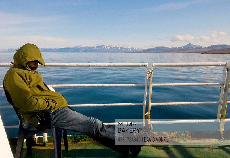 rest in the boat, Svalbard