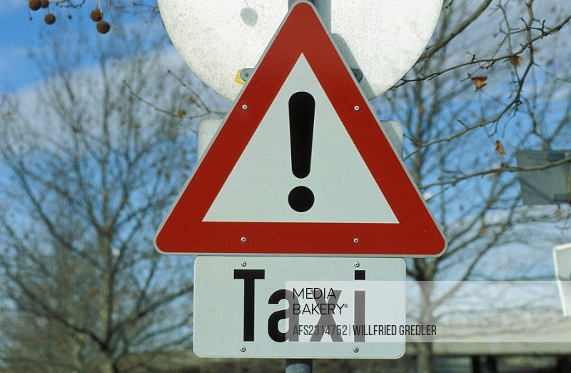 Sign attention taxi