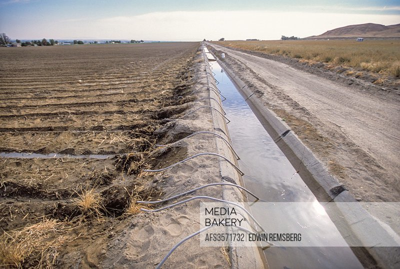 Oregon, USA - Irrigation ditches.
