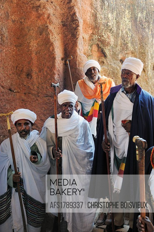 Ethiopia, Lalibela, Timkat festival, Church of Bieta Maryam, Singing dabtaras or choristers  Every year on january 19, Timkat marks the Ethiopian Orth...