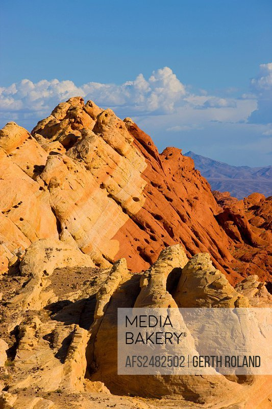 Valley of Fire, USA, Amerika, Vereinigte Staaten, Nevada, Valley of Fire State Park, Felsen, Felsformen, Farben, Sandstein