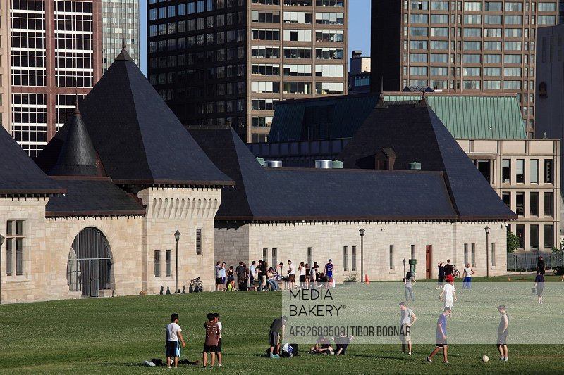 Canada, Quebec, Montreal, McTavish Reservoir, people, leisure,