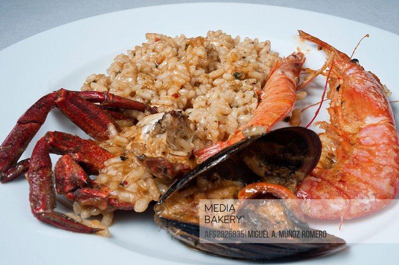 SEAFOOD PAELLA DISH- SPAIN.