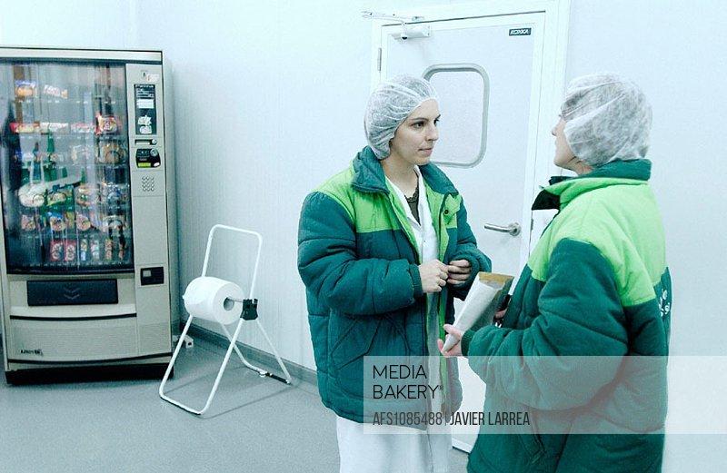 Frozen food industry, break area. Navarre. Spain