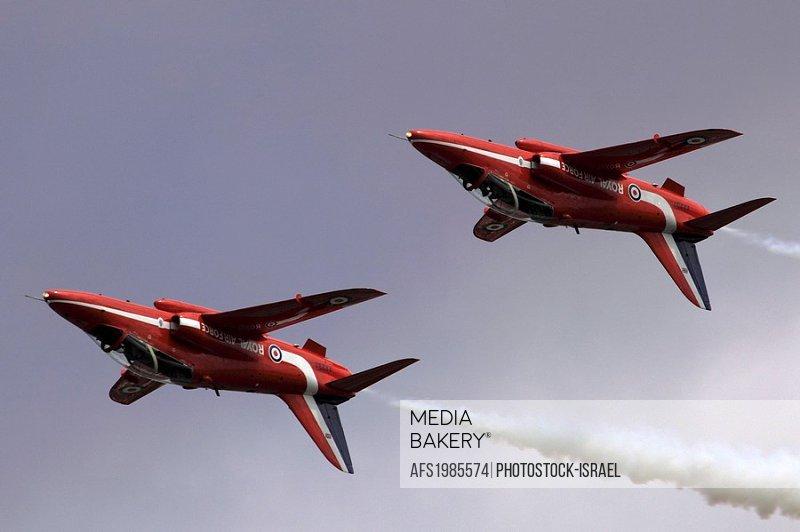 Royal Air Force Aerobatic Team Red Arrows at the Royal International Air Tattoo RIAT Air Show July 2009