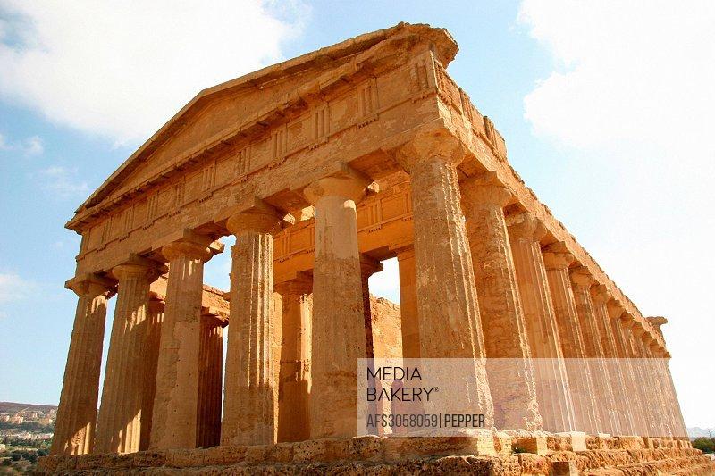 Italy, Europe, Sicily, Agrigento, Greek temple, antiquity, archeology, temple, antiquity, archeology, columns, Concordia