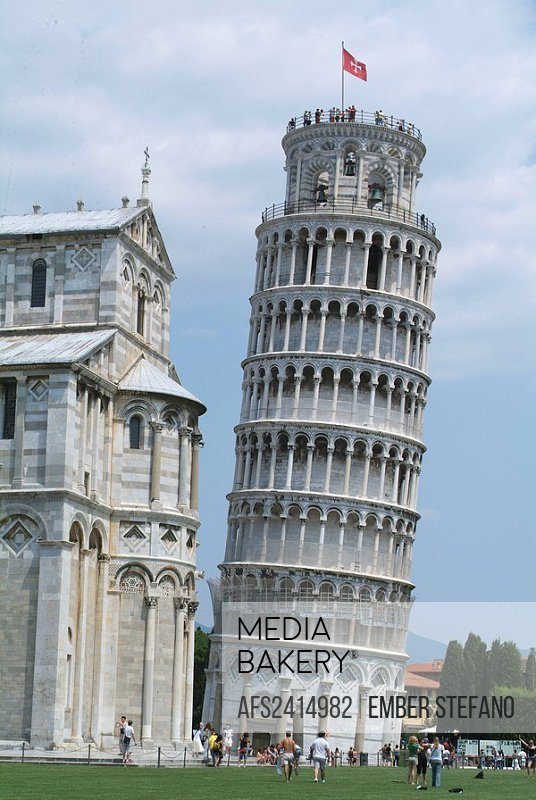 Italy, Europe, Tuscany, Toscana, Pisa, leaning tower, sloping, tourist