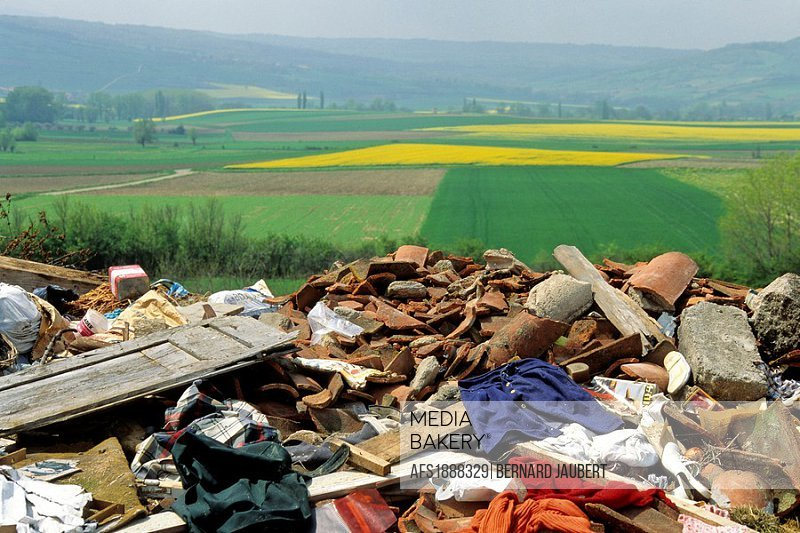 Uncontrolled dump site in France