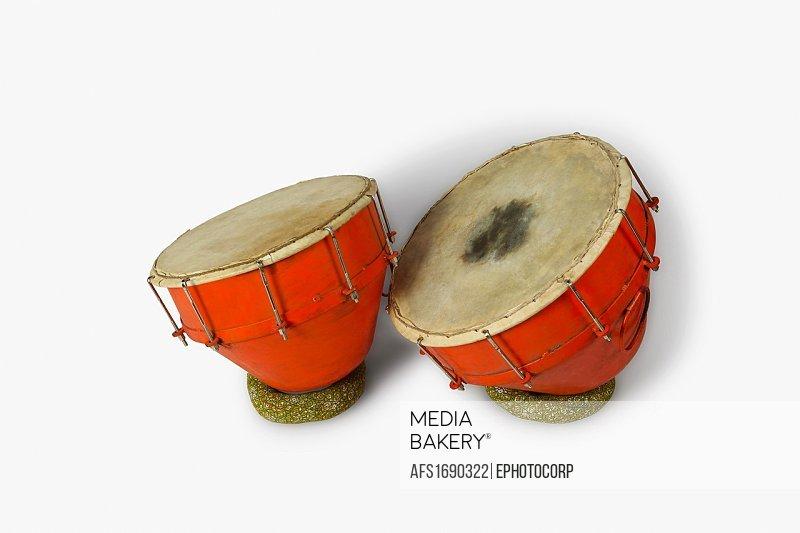 Nagada, a musical instrument, India.
