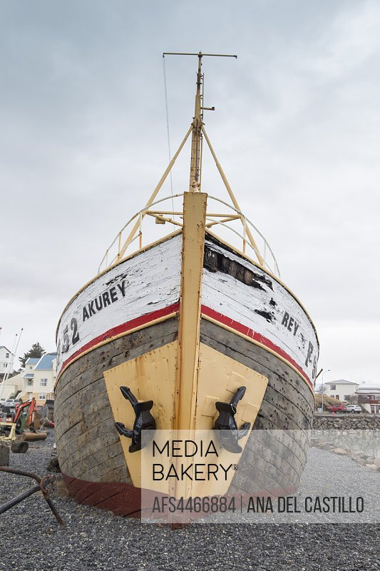 Hofn Seaport in Iceland on March 17, 2018.
