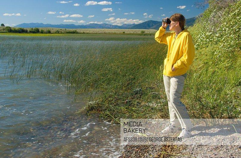 Birding, Brown´s Lake Fishing Access Site, Powell County, Montana.