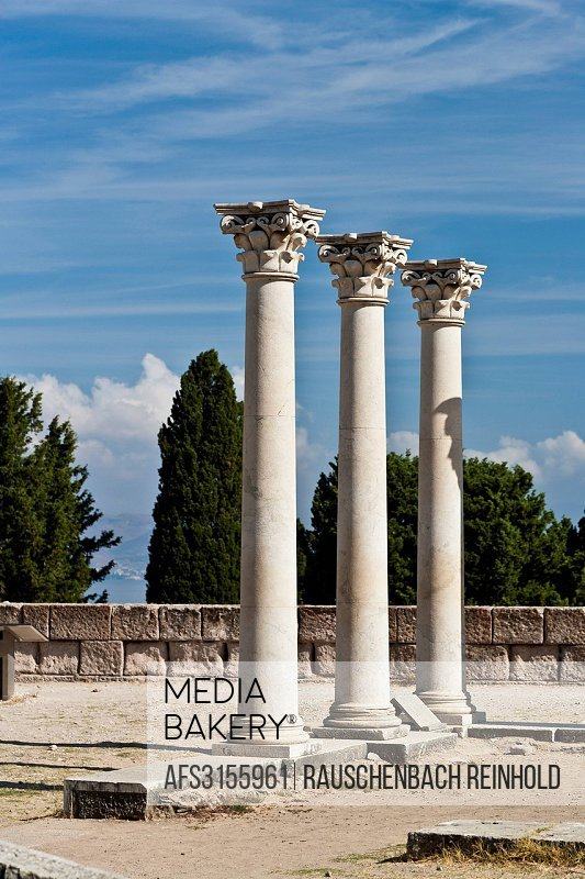 Kos, Apollon, Apollon temple, Asklepeion, excavation, excavations, excavation site, building leftovers, health center, Greece, Europe, sanctum, portra...