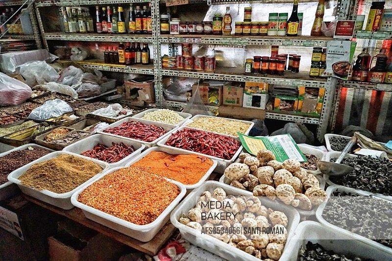 Fresh Produce Market, Hutong, Beijing, China.