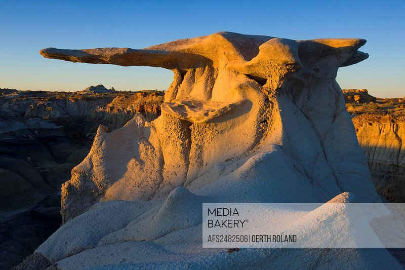 Wings of Stone, USA, Amerika, Vereinigte Staaten, New Mexico, Bisti Wilderness, Badlands, Erosion, Felsen, Felsskulpturen, Sands