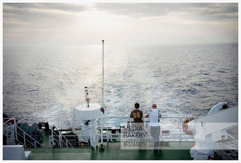 Ship. Journey Mallorca-Menorca. Balearic Islands. Spain.