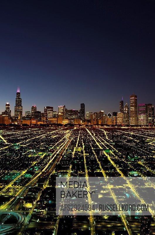 Symbolic Abstract City Skyline