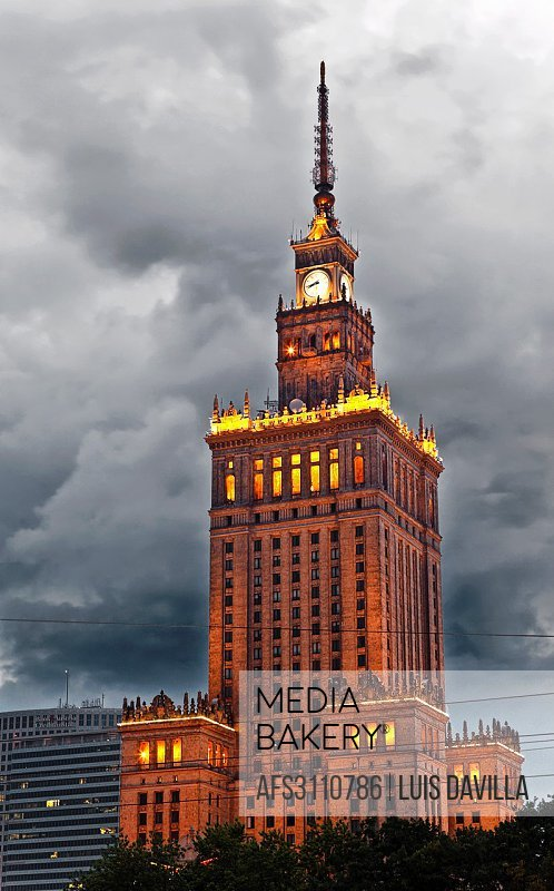 palace of culture and science in warsaw. poland.