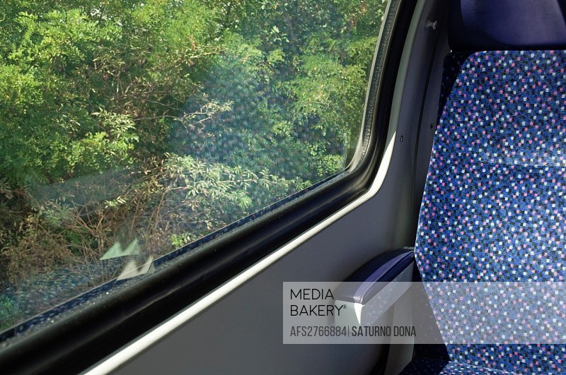 Train seat and window
