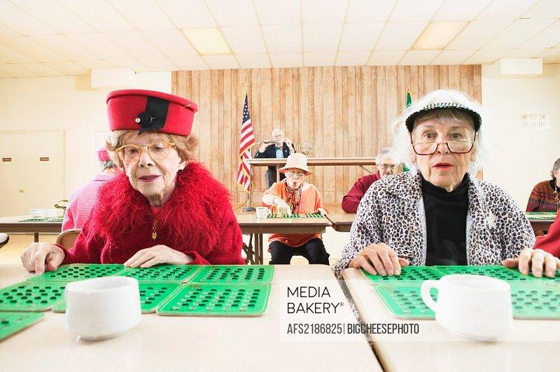 Pair of women playing bingo