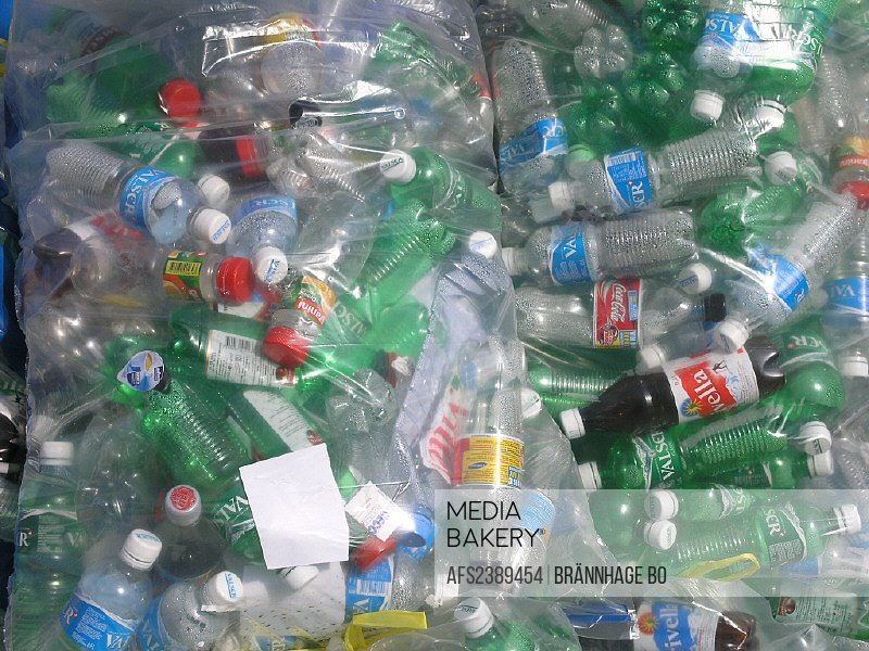 bags, collection, environment, PET bottles, plastic, recycling, collecting, Switzerland, Europe,
