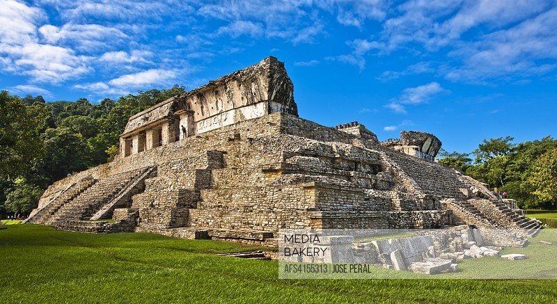 The Palace, Maya archaeological site, Palenque, Chiapas State Mexico, Central America.