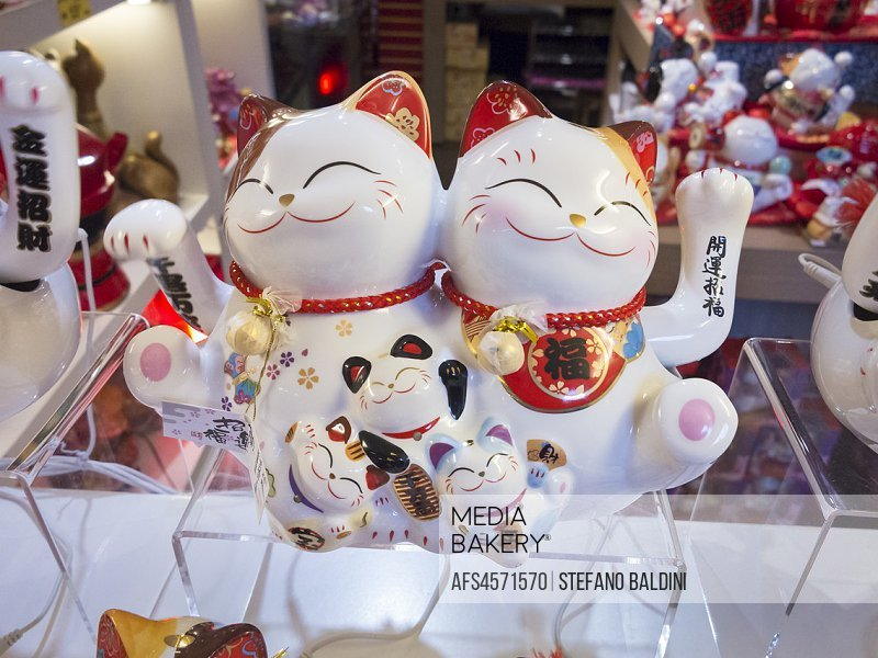 Waving or lucky cat, Malaysia.