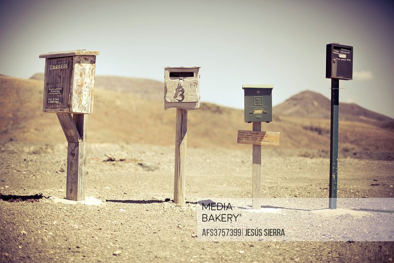 Post boxes in Fuerteventura, Canary Islands, Spain.